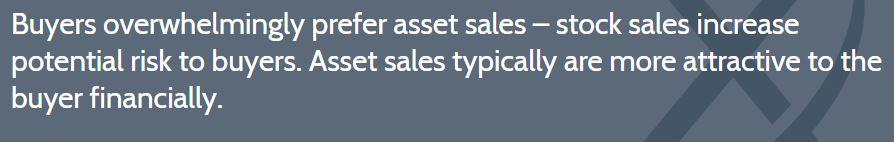 Buyers asset sale