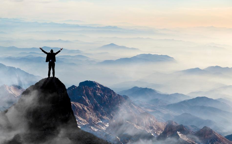 Man-On-Top-Of-Mountain