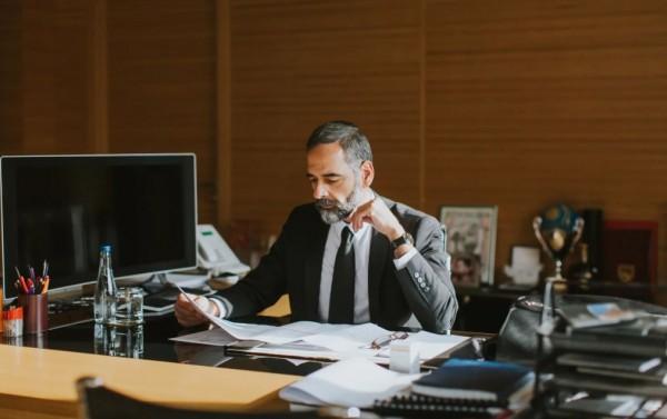 Desk man